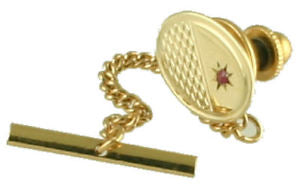 9ct Gold Ruby Tie Pin