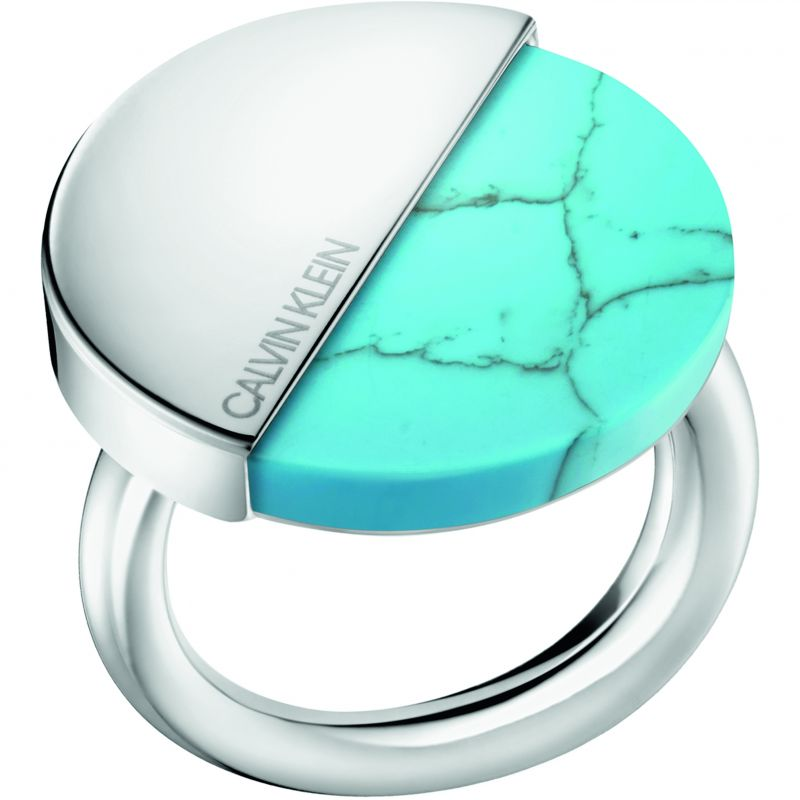 Calvin Klein Spicy Ring - Steel and Turquoise