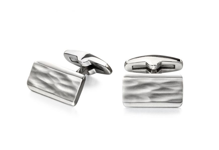 Fred Bennet Textured Steel Cufflinks