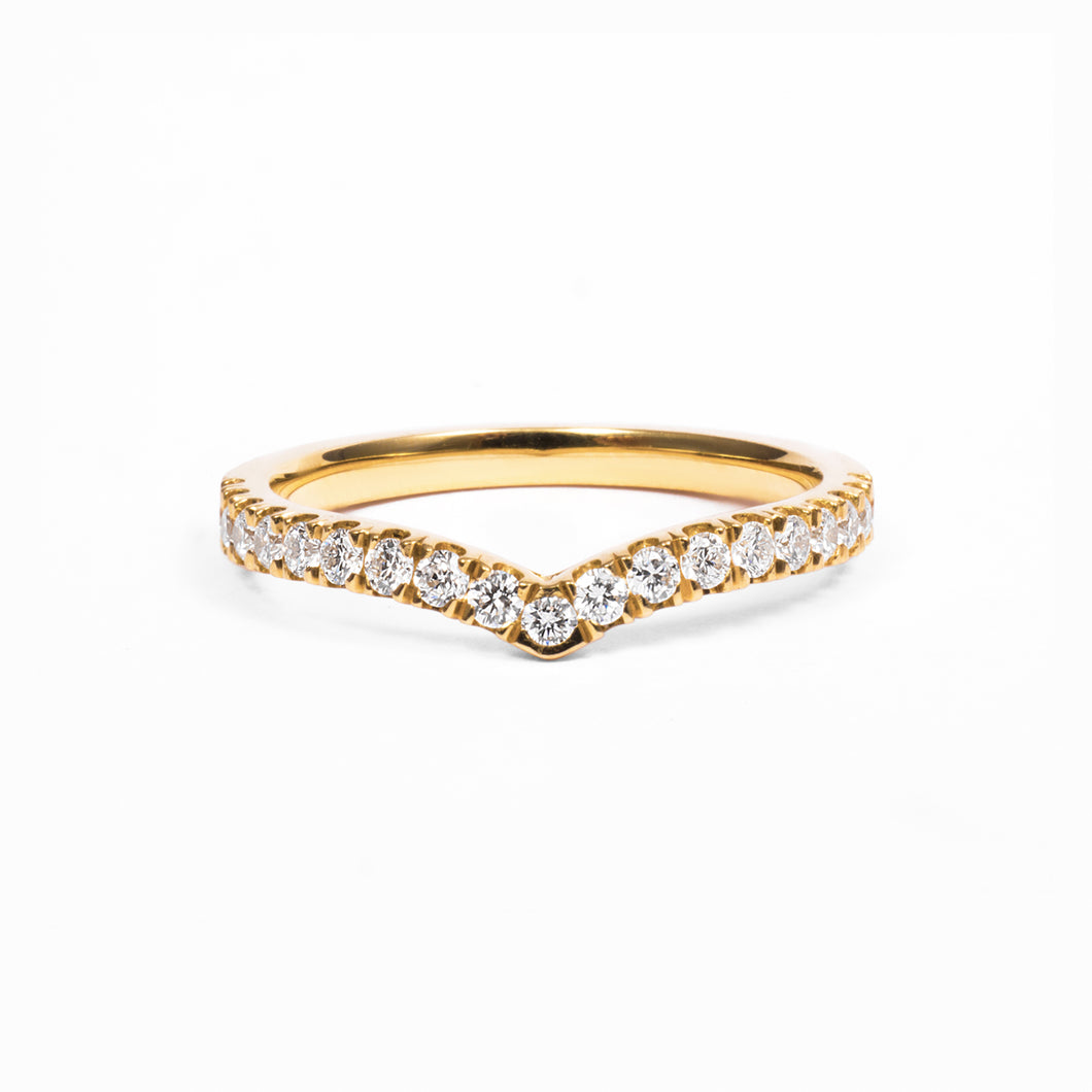 18ct Wishbone Diamond Eternity Ring