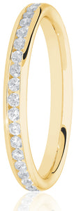 Yellow Gold Channel Set Eternity Ring 0.25ct