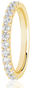 Claw Set Eternity Ring - Yellow Gold 0.50ct