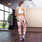 Leggings de yoga camuflaje rosa
