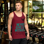 Camiseta de tirantes Never give up/ Red