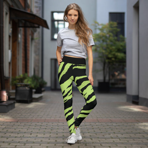 Leggings de yoga /green tiger