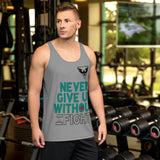 Camiseta de tirantes never give up/ Gris