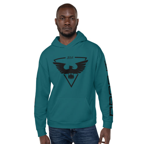 Sudadera verde Logotipo JR.M /Drop it