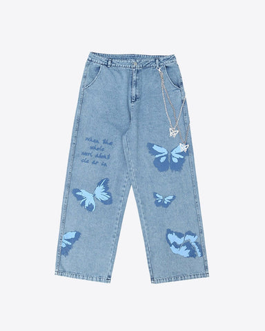 Chained Butterfly Denim
