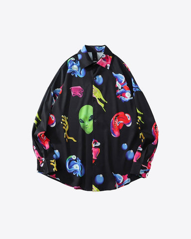 Alien Button Up