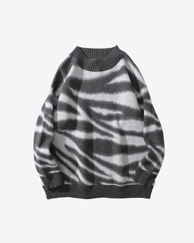 Zebra Long Sweater