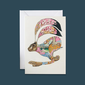 Hare Running - Card - Pack of 6