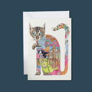 Cat Licking It's Paw - Card - Pack of 6