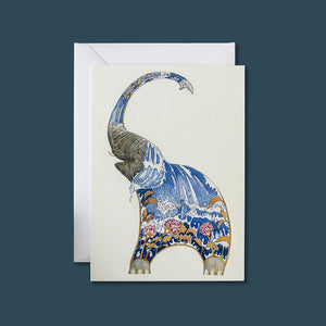 Elephant Squirting Water - Card - Pack of 6