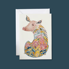 Load image into Gallery viewer, Pig - Card - Pack of 6