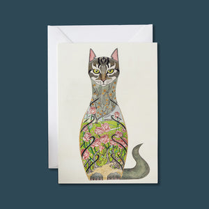 Cat In a Rose Garden - Card - Pack of 6