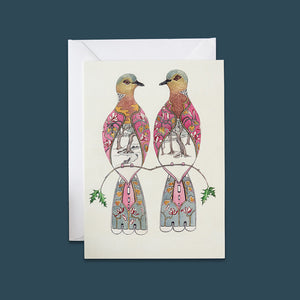 Two Turtle Doves - Card - Pack of 6