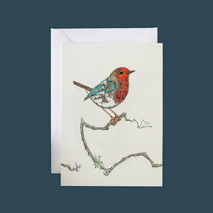 Robin in the Snow - Card - Pack of 6