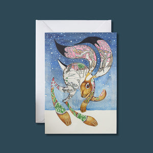 Hare in the Snow - Card - Pack of 6