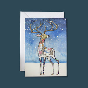 Stag in the Snow - Card - Pack of 6