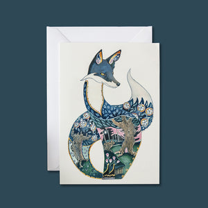 Fox at Night - Card - Pack of 6