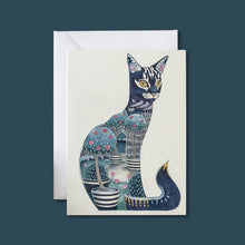 Load image into Gallery viewer, Cat at Night - Card - Pack of 6