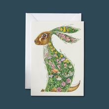 Load image into Gallery viewer, Hare in a Meadow - Card - Pack of 6