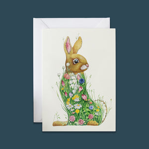Bunny in a Meadow - Card - Pack of 6