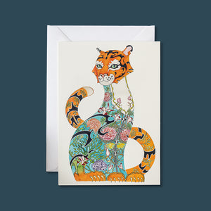 Tiger in the Jungle - Card - Pack of 6