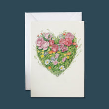 Load image into Gallery viewer, Grass Heart - Card - Pack of 6