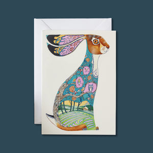Blue Hare - Card - Pack of 6