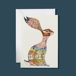 Pink Hare - Card - Pack of 6