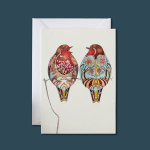 Two Robins - Card - Pack of 6