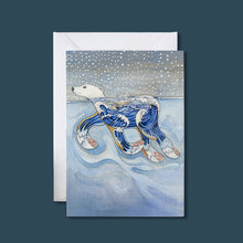 Load image into Gallery viewer, Polar Bear Swimming - Card - Pack of 6