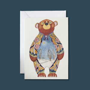 Bear in the Snow - Card - Pack of 6
