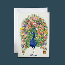 Load image into Gallery viewer, Peacock - Card - Pack of 6
