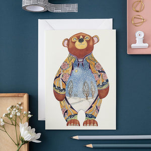 Bear in the Snow - Card - The DM Collection