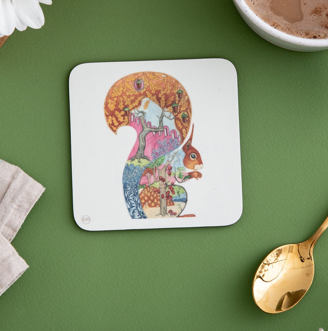 Red Squirrel - Coaster - The DM Collection