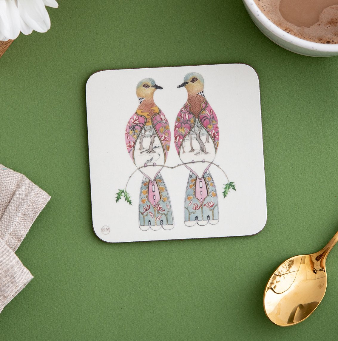 Two Turtle Doves - Coaster - The DM Collection