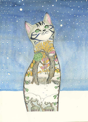 Cat in the Snow  - Card - The DM Collection