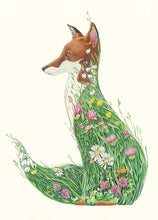 Load image into Gallery viewer, Fox in a Meadow - Card - The DM Collection