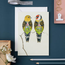 Load image into Gallery viewer, Goldfinches - Card - The DM Collection