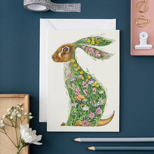 Load image into Gallery viewer, Hare in a Meadow - Card - The DM Collection