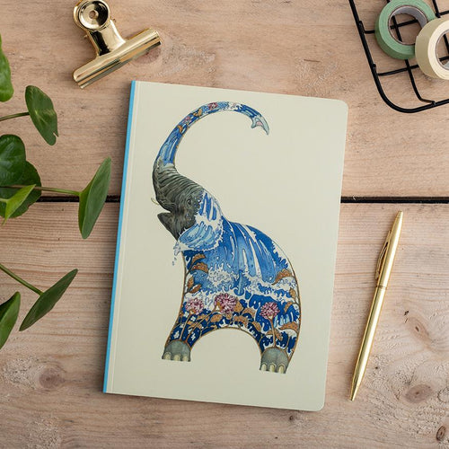 Perfect Bound Notebook - Elephant Squirting Water - The DM Collection