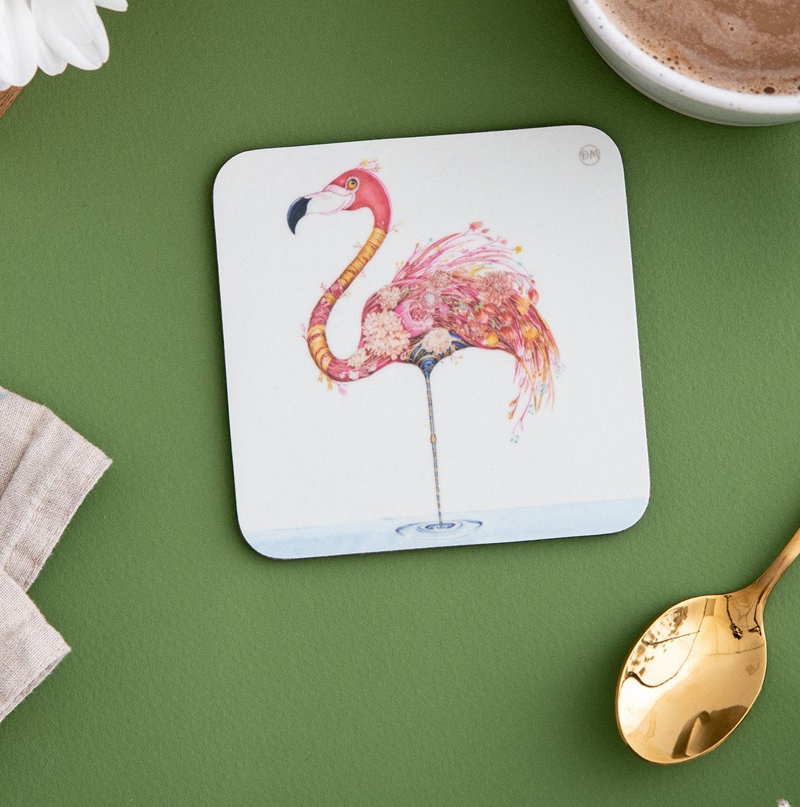 Flamingo - Coaster - The DM Collection