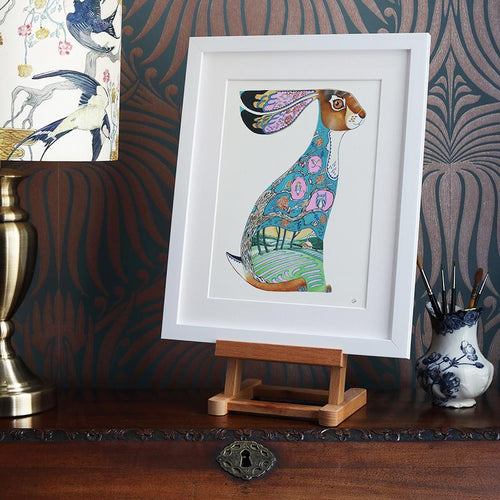 Blue Hare - Print - The DM Collection
