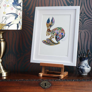 Hopping Bunny - Print - The DM Collection
