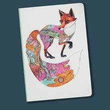 Load image into Gallery viewer, Perfect Bound Notebook - Red Fox