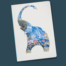 Load image into Gallery viewer, Perfect Bound Notebook - Elephant Squirting Water