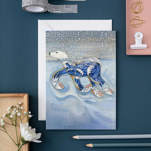 Polar Bear Swimming - Card - The DM Collection