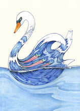 Load image into Gallery viewer, Swan - Card - Pack of 6